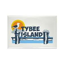 Tybee Island GA - Pier Design. Rectangle Magnet