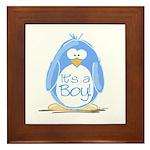 It is a Boy Penguin Framed Tile