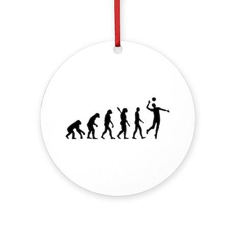 Evolution Volleyball player Ornament (Round)