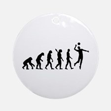 Evolution Volleyball player Ornament (Round)