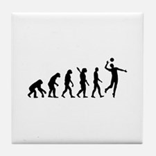 Evolution Volleyball player Tile Coaster