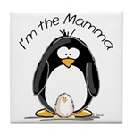 I am the Mamma Penguin Tile Coaster