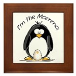 I am the Mamma Penguin Framed Tile