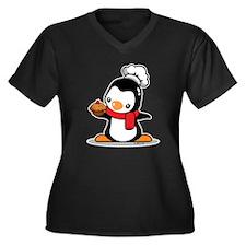 Little Chef Women's Plus Size V-Neck Dark T-Shirt