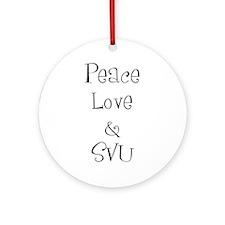 Peace Love Ornament (Round)