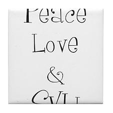 Peace Love Tile Coaster