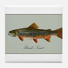 Brook Trout Tile Coaster