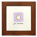 just hatched Penguin Framed Tile