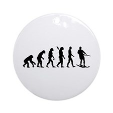 Evolution Water Ski Ornament (Round)