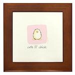 cute lil chick Penguin Framed Tile
