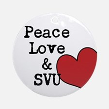 Peace Love & SVU Ornament (Round)