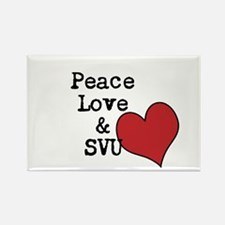 Peace Love & SVU Rectangle Magnet