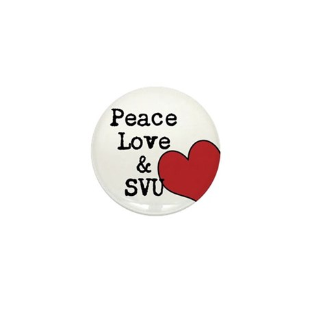Peace Love & SVU Mini Button