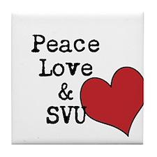 Peace Love & SVU Tile Coaster