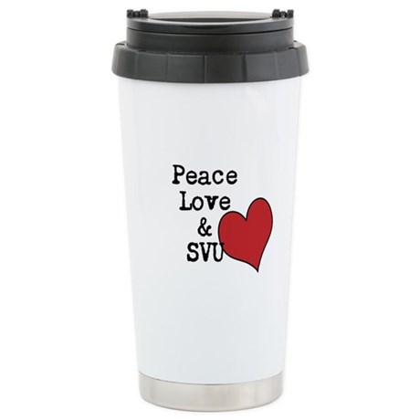 Peace Love & SVU Stainless Steel Travel Mug