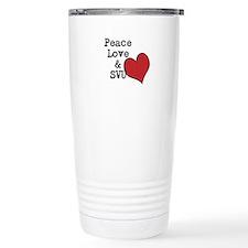 Peace Love & SVU Travel Mug