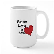 Peace Love & SVU Mug