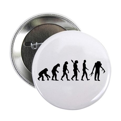 """Evolution scary Zombie 2.25"""" Button (10 pack)"""