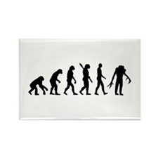Evolution scary Zombie Rectangle Magnet