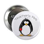 Teachers Pet Penguin Button