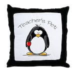 Teachers Pet Penguin Throw Pillow