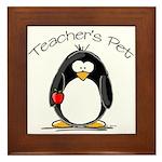 Teachers Pet Penguin Framed Tile