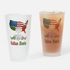 American Italian Roots Drinking Glass