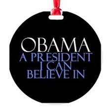 Believe in Obama Ornament