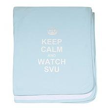 Keep Calm and Watch SVU baby blanket
