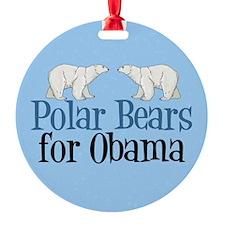 Polar Bears for Obama Ornament