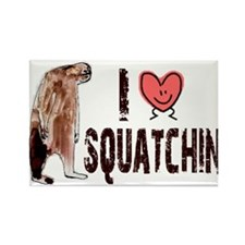 I Love Heart <3 Squatchin Rectangle Magnet