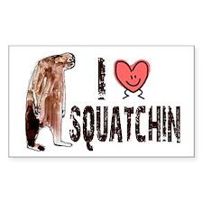 I Love Heart <3 Squatchin Decal