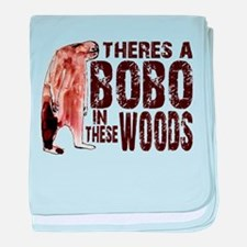 Bobo in These Woods baby blanket