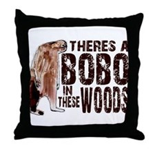 Bobo in These Woods Throw Pillow