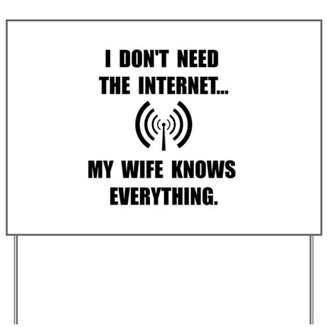 Wife Knows Everything Yard Sign