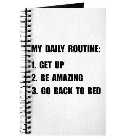 Daily Routine Journal