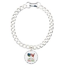 American Italian Roots Charm Bracelet, One Charm