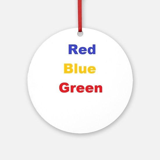 Stroop Effect Ornament (Round)