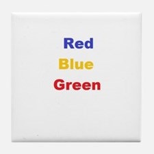 Stroop Effect Tile Coaster