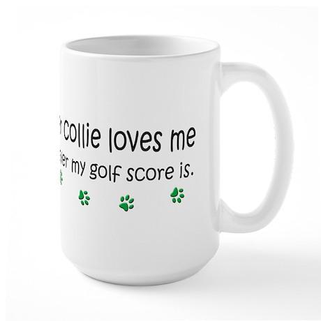 border collie-more breeds Large Mug