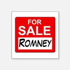 "For Sale Romney Square Sticker 3"" x 3"""