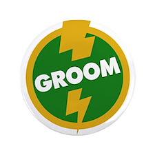 "Groom Wedding - Dupree 3.5"" Button"