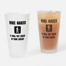Hike Naked Drinking Glass