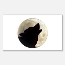 Wolf Moon Sticker (Rectangle 10 pk)