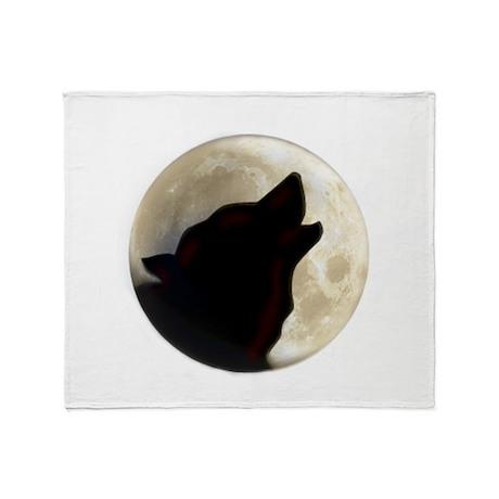 Wolf Moon Throw Blanket