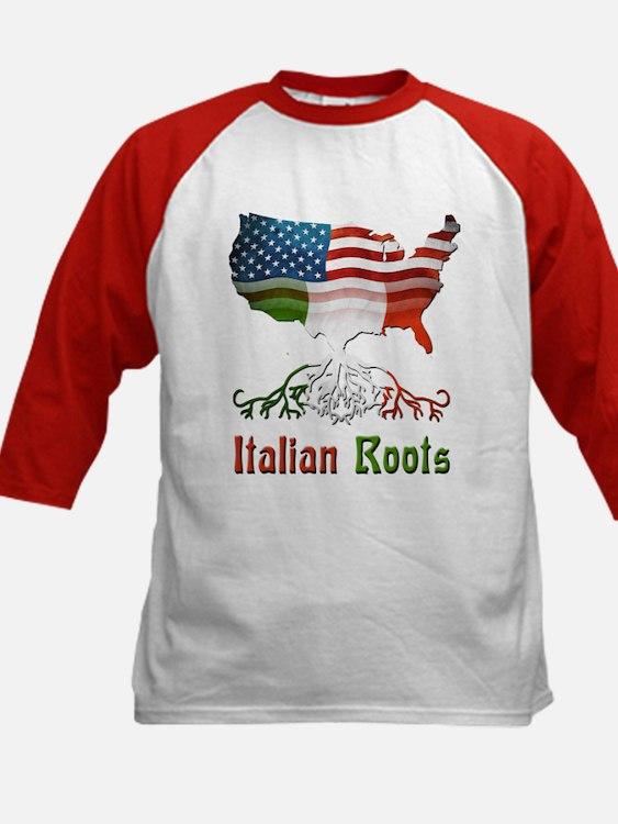 American Italian Roots Kids Baseball Jersey