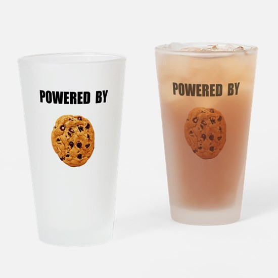 Powered By Cookie Drinking Glass