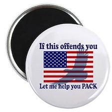 """Flag Eagle Patriot 2.25"""" Magnet (100 pack)"""
