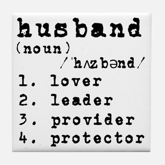 Husband Definition Tile Coaster