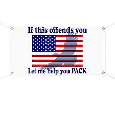 Flag Eagle Patriot Banner